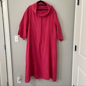 Bryan Walker Lagenlook Cowl Neck Linen Maxi Dress